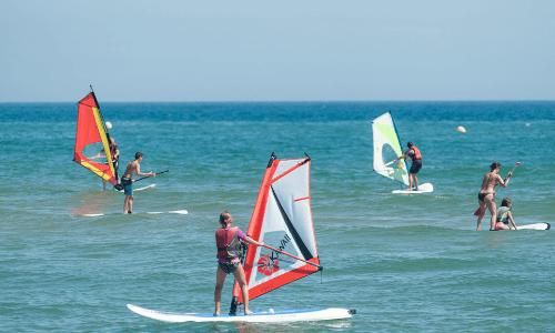 Camping Playa Brava Surfen