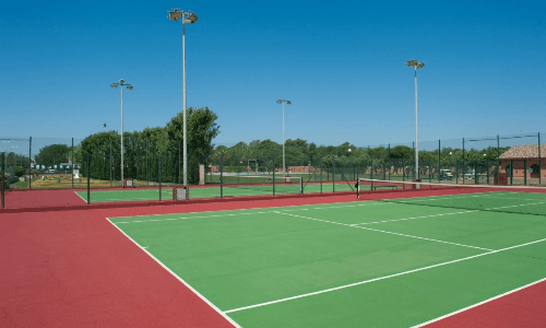 Camping Playa Brava Tennisbanen