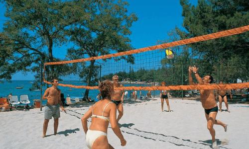 Camping Valkanela Beach Volleybal