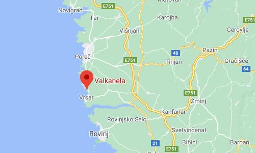 Camping Valkanela locatie en omgeving